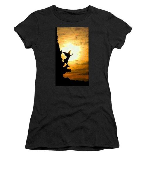 Sunset Angel Women's T-Shirt (Junior Cut) by Valentino Visentini