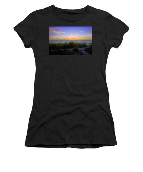 Sunset At Barefoot Beach Preserve In Naples, Fl Women's T-Shirt