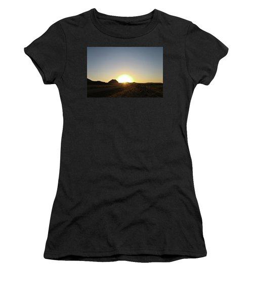 Sunset At Castle Butte Sk Women's T-Shirt