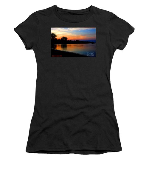 Sunset At Colonial Beach Cove Women's T-Shirt (Athletic Fit)