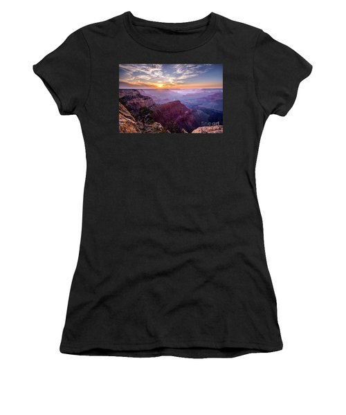 Sunset At Grand Canyon Women's T-Shirt (Athletic Fit)