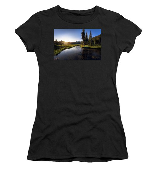 Sunset At Kings Creek In Lassen Volcanic National Women's T-Shirt