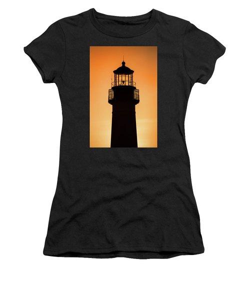 Sunset At Lighthouse Women's T-Shirt