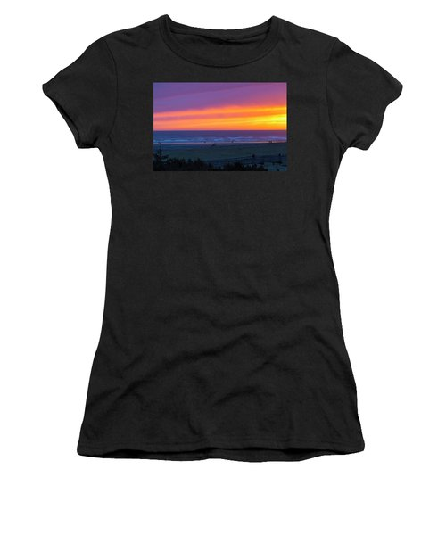 Sunset At Long Beach Washington Women's T-Shirt (Athletic Fit)