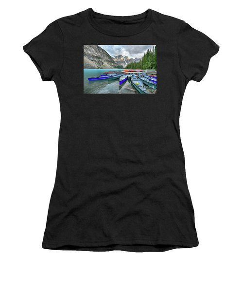 Sunset At Moraine Lake Women's T-Shirt