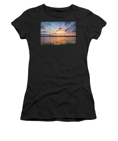 Sunset At Morse Lake Women's T-Shirt (Athletic Fit)