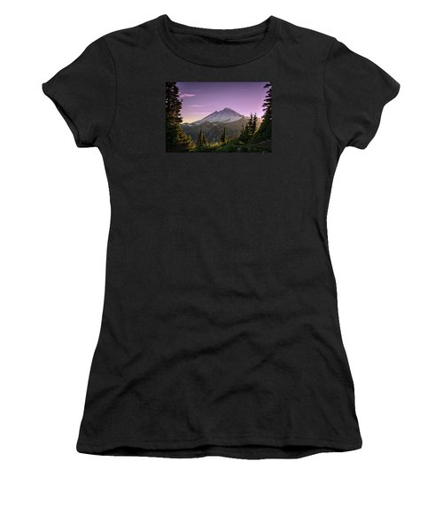 Sunset At Mt. Baker Women's T-Shirt
