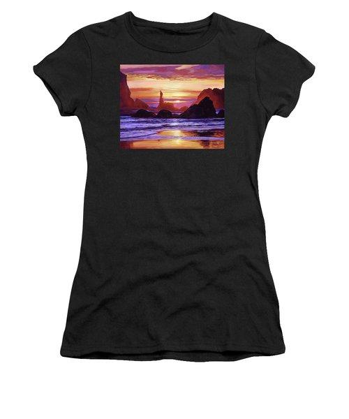 Sunset At Oregon Rocks Women's T-Shirt