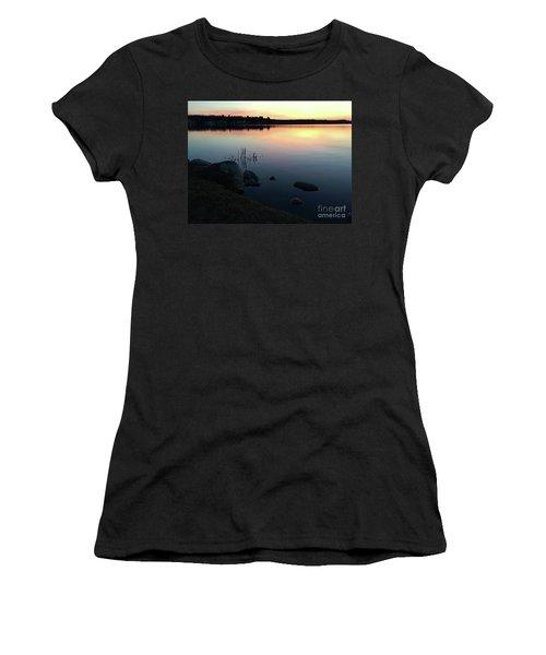Sunset At Pentwater Lake Women's T-Shirt