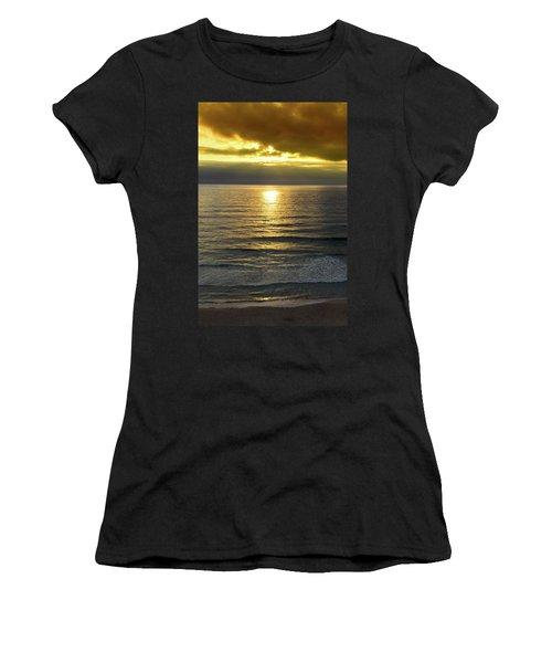 Sunset At Praia Pequena, Small Beach In Sintra Portugal Women's T-Shirt