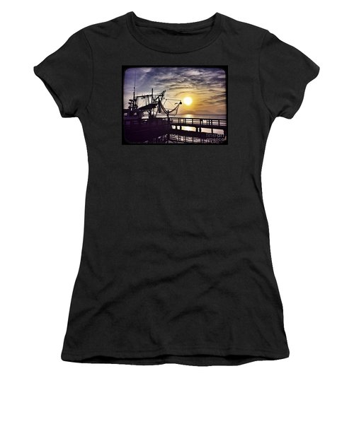 Sunset At Snoopy's Women's T-Shirt (Athletic Fit)