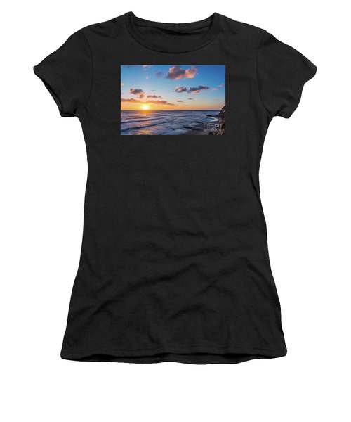 Sunset At Swami's Beach  Women's T-Shirt