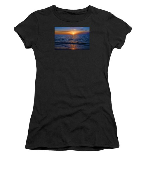 Sunset At The Beach In Naples, Fl Women's T-Shirt
