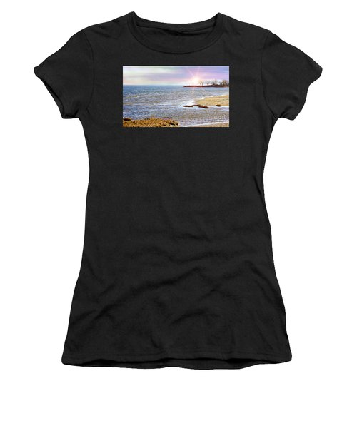 Sunset At The Beach - Tod's Point Women's T-Shirt (Athletic Fit)