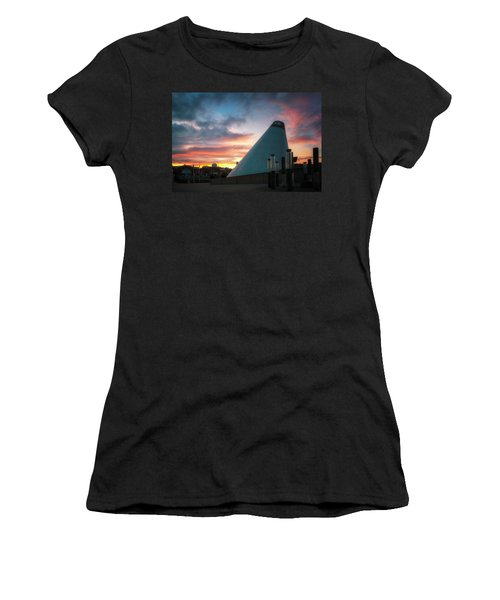 Sunset At The Museum Of Glass Women's T-Shirt (Athletic Fit)