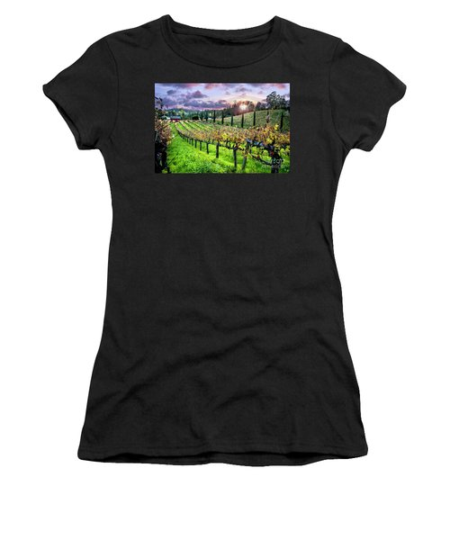 Sunset At The Palmers Women's T-Shirt