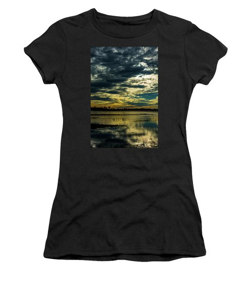Sunset At The Wetlands Women's T-Shirt (Athletic Fit)