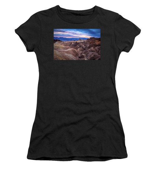 Sunset At Zabriskie Point In Death Valley National Park Women's T-Shirt