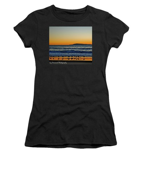 Sunset Bird Reflections Women's T-Shirt (Athletic Fit)