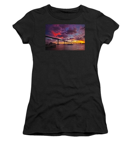 Sunset Crossing At The Coronado Bridge Women's T-Shirt