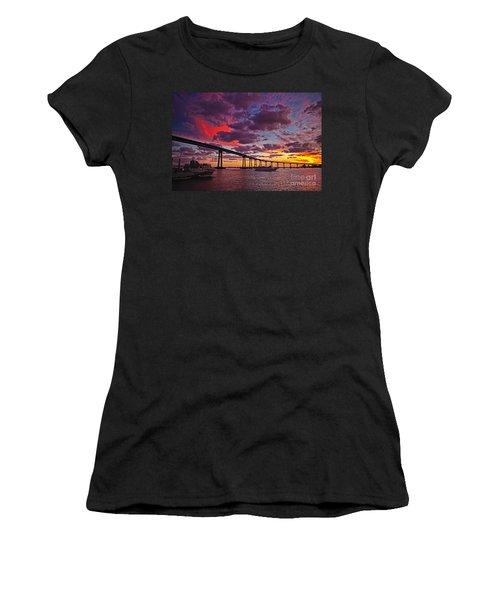 Sunset Crossing At The Coronado Bridge Women's T-Shirt