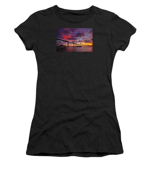 Sunset Crossing At The Coronado Bridge Women's T-Shirt (Athletic Fit)