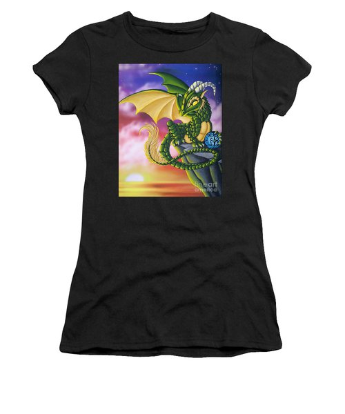 Sunset Dragon Women's T-Shirt (Athletic Fit)