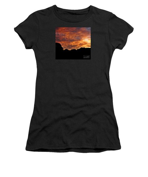 Sunset Fire Women's T-Shirt (Athletic Fit)