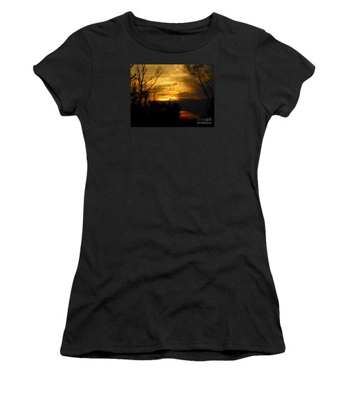 Sunset From Farm Women's T-Shirt (Athletic Fit)