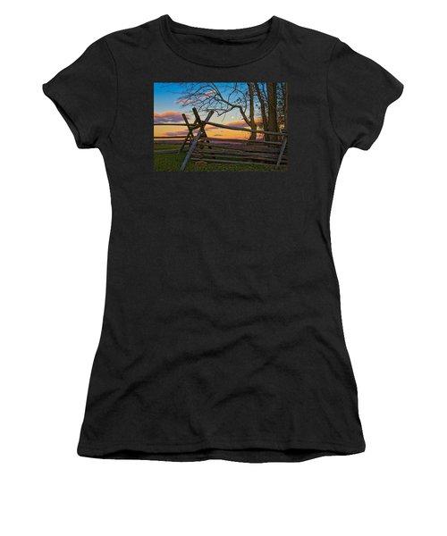 Sunset In Antietam Women's T-Shirt (Athletic Fit)