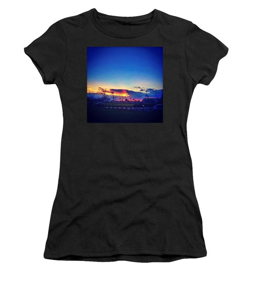 Sunset In College  #sunset #college Women's T-Shirt