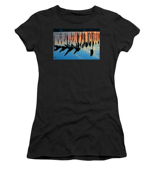 Sunset In Colonial Beach Virginia Women's T-Shirt