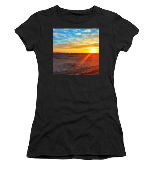 Sunset In Egypt Women's T-Shirt (Athletic Fit)
