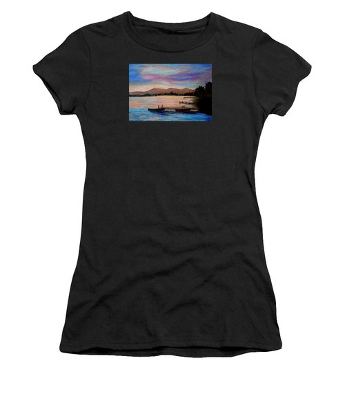 Sunset In Evia Women's T-Shirt (Athletic Fit)