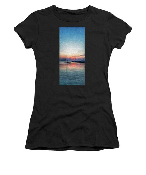 Sunset In Oil Tarpaulin Cove Women's T-Shirt (Athletic Fit)