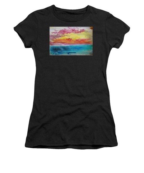 Sunset Lagoon Women's T-Shirt (Athletic Fit)