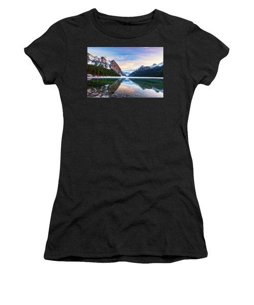 Sunset Lake Louise Women's T-Shirt