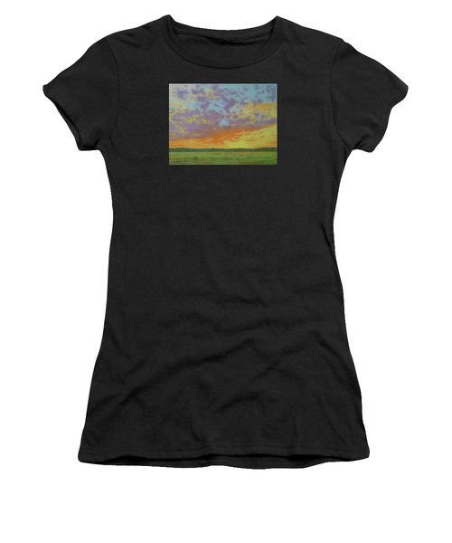 Sunset Near Miles City Women's T-Shirt (Athletic Fit)