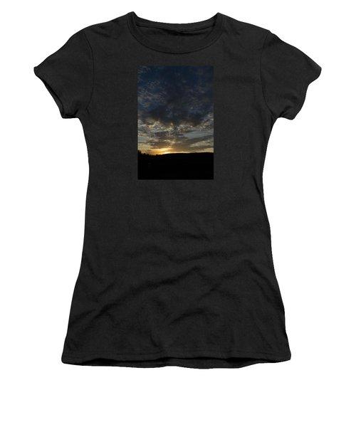 Sunset On Hunton Lane #2 Women's T-Shirt (Athletic Fit)