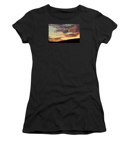 Sunset On Hunton Lane #6 In The Company Of Angels Women's T-Shirt (Athletic Fit)