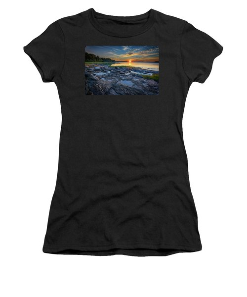 Women's T-Shirt (Athletic Fit) featuring the photograph Sunset On Littlejohn Island by Rick Berk
