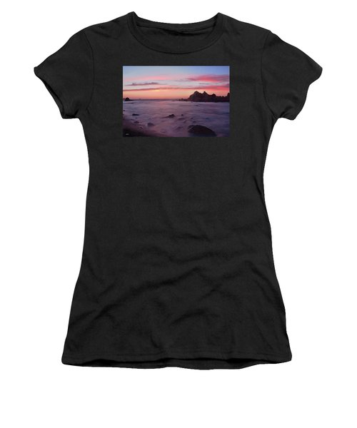 Sunset On Monterey Bay Women's T-Shirt (Athletic Fit)