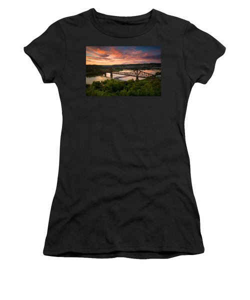 Sunset On Ohio River  Women's T-Shirt