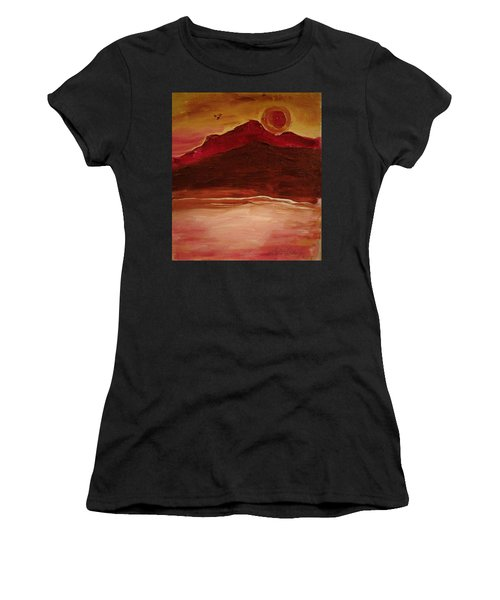 Sunset On Red Mountain Women's T-Shirt (Athletic Fit)