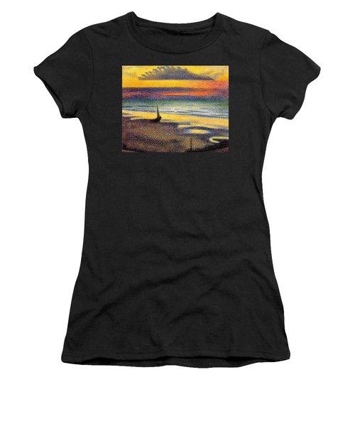 Sunset On The Beach 1891 Women's T-Shirt