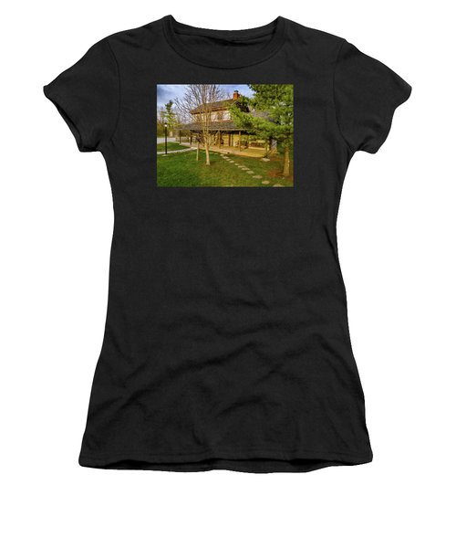 Sunset On The Cabin Women's T-Shirt (Athletic Fit)