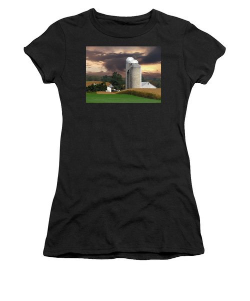 Sunset On The Farm Women's T-Shirt