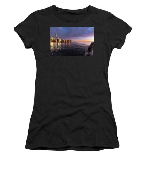 Sunset On The Hudson River Women's T-Shirt (Athletic Fit)