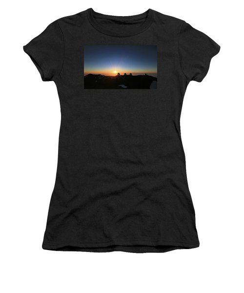 Sunset On The Mauna Kea Observatories Women's T-Shirt