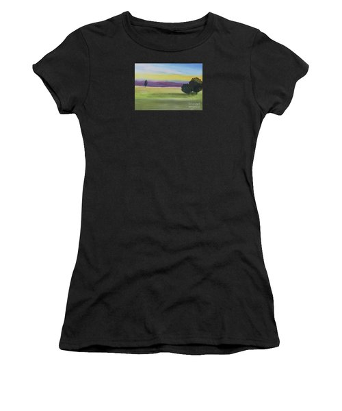 Sunset On The Plain Women's T-Shirt (Athletic Fit)